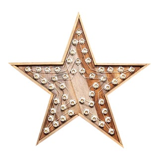 Wooden Blinking Star Light For Sale