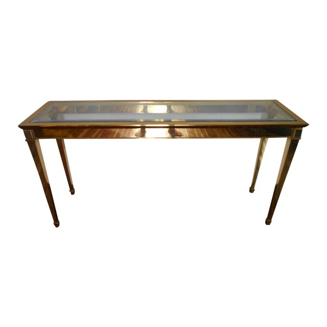 Louis XVI Brass Console Table - Image 1 of 8