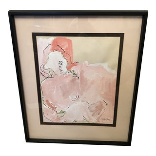1970s Figurative Nude Painting, Framed For Sale
