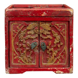 Small Qing Dynasty Style Jewelry Chest For Sale