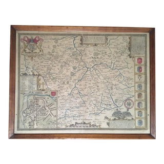 Late 19th Century Antique Leicester, England Map For Sale