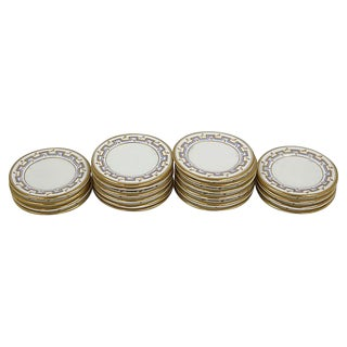 Antique English Gilded Butter Pats - Set of 20 For Sale