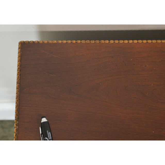 Sherrill Occasional Small Cherry One Drawer Side Table For Sale - Image 9 of 12