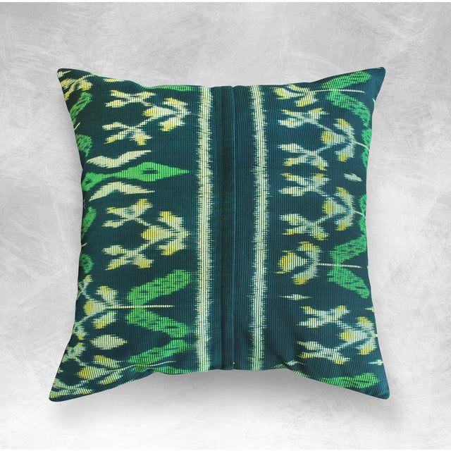 "Handwoven ""Java Banana Leaves"" Ikat Pillow Case - Image 2 of 3"
