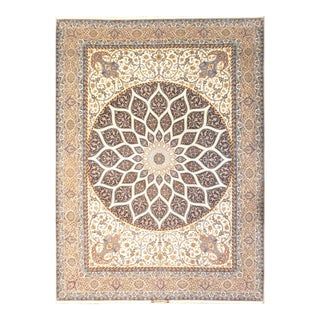 "Pasargad Persian Isfahan Handmade Silk & Wool - 9'8"" X 13'8"" For Sale"