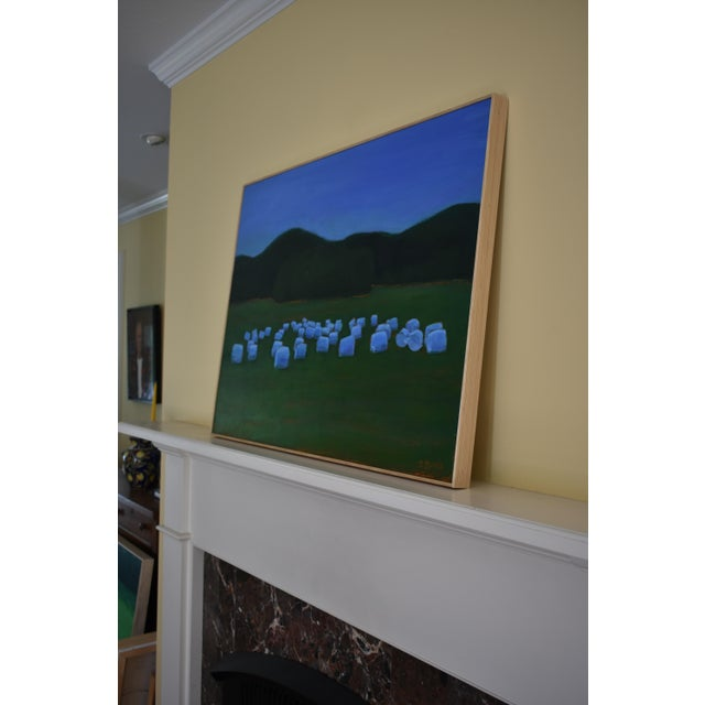 """Baled Hay at Dusk"" Painting by Stephen Remick For Sale In Providence - Image 6 of 11"