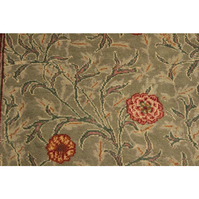 "William Morris Pak-Persian Jasmine Green Red Wool Rug - 4'1"" x 5'11"" For Sale - Image 4 of 8"