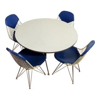 1966 Herman Miller Space Age Bikini-Pad Dining Set - 5 Pieces Original Reciepts. For Sale