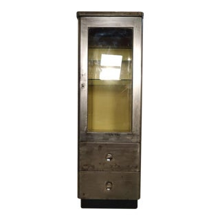 Tall Industrial Metal Display Cabinet For Sale