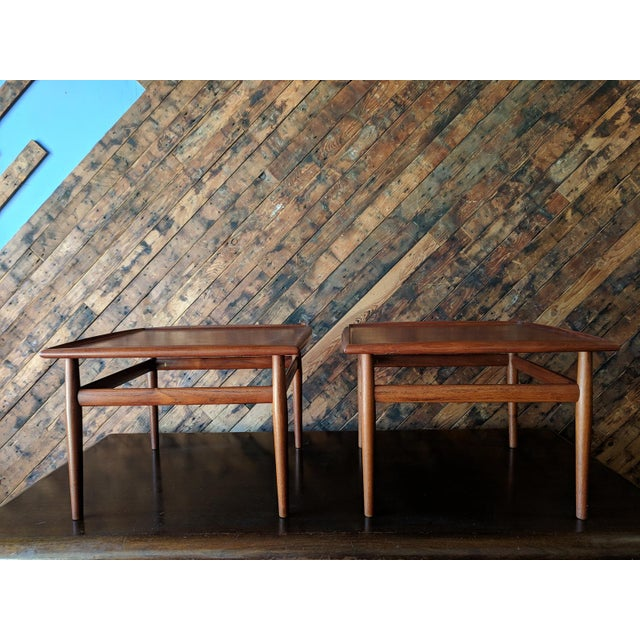Pair of Danish Teak Mid Century Side/Coffee Tables by Grete Jalk for Glostrup For Sale - Image 10 of 10