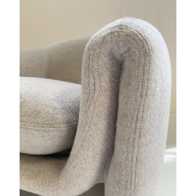 Preview Modernist Lounge Chairs Restored in Loro Piana Alpaca Wool Fabric - Pair For Sale In Saint Louis - Image 6 of 8