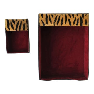 Tiger Desk Storage Set - a Pair For Sale