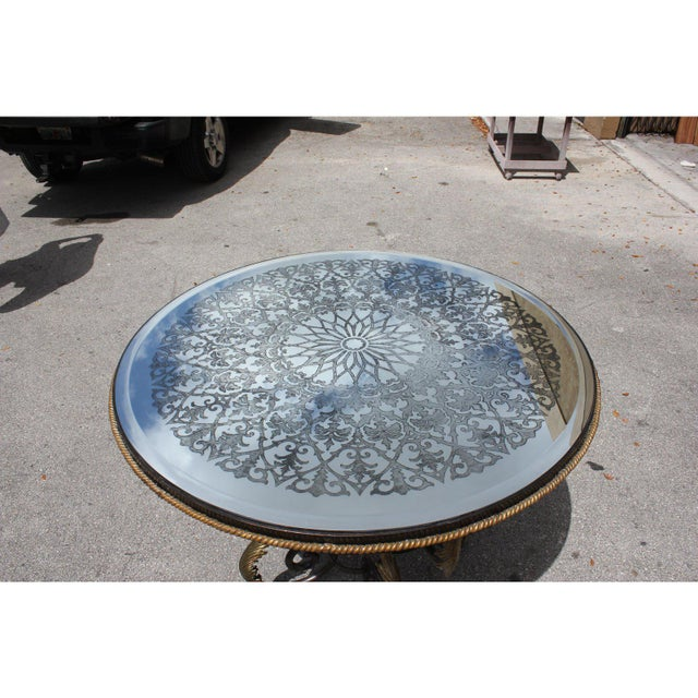 Gold 1950s French Art Deco Iron Center Table For Sale - Image 8 of 12