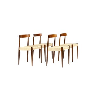 1960s Danish Modern Mogens Kold Teak Dining Chairs - Set of 4 For Sale