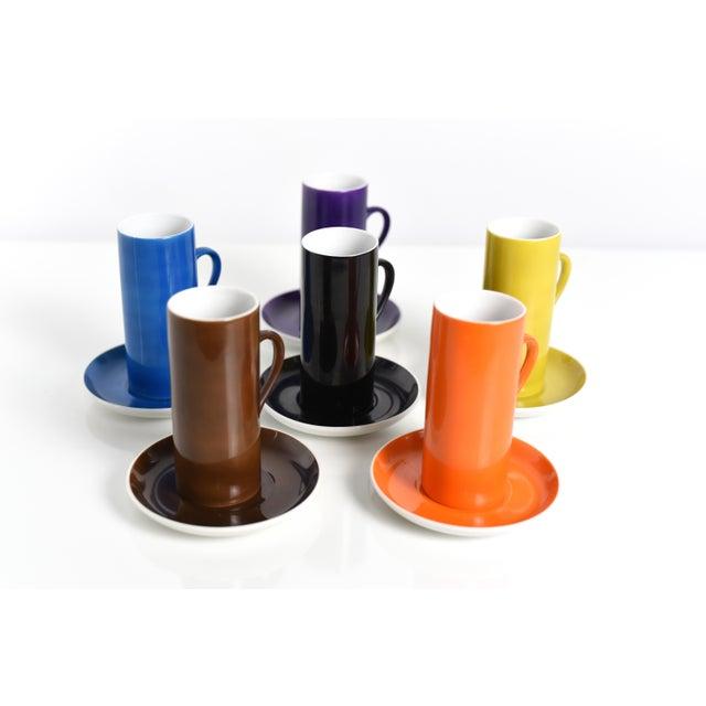 Mid-Century Modern La Gardo Tackett Set of 6 Espresso / Demitasse Cups Set by Schmid, 1960s For Sale - Image 3 of 7