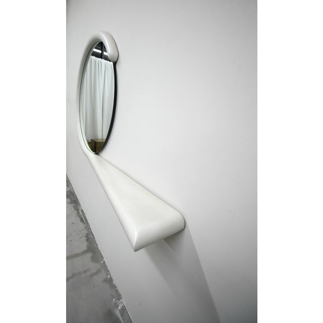 Art Deco Post Modern Wall Mirror With Console Shelf by Jay Spectre For Sale - Image 3 of 6