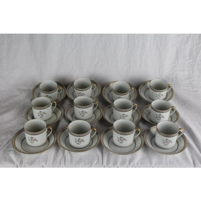 White Vista Algere Cups & Saucers - Set of 12 For Sale - Image 8 of 10