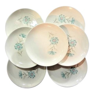 Taylor & Smith Mid Century Salad Dishes Plates - Set of 7 For Sale