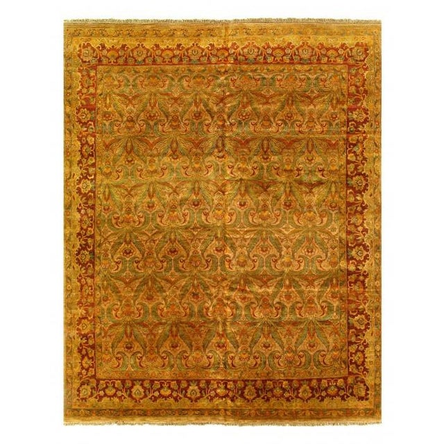 Pasargad Gold Color Hand Knotted Agra Rug- 11′11″ × 14′8″ For Sale - Image 10 of 10