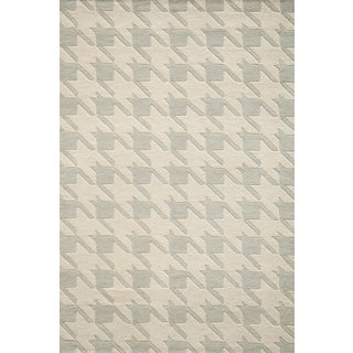 """Contemporary Momeni Delhi Hand Tufted Grey Wool Area Rug 3'6"""" X 5'6"""" For Sale"""