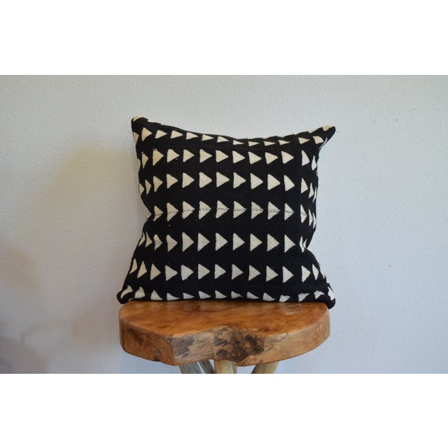 Triangle Pattern Mud Cloth Pillow - Image 2 of 4