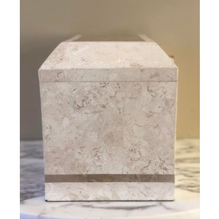 1980s Art Deco Maitland-Smith Tessellated White Stone Large Storage Box Preview