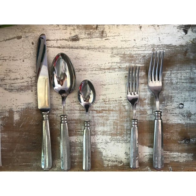 Williams Sonoma Alton Pewter Flatware - Set of 5 For Sale - Image 5 of 11