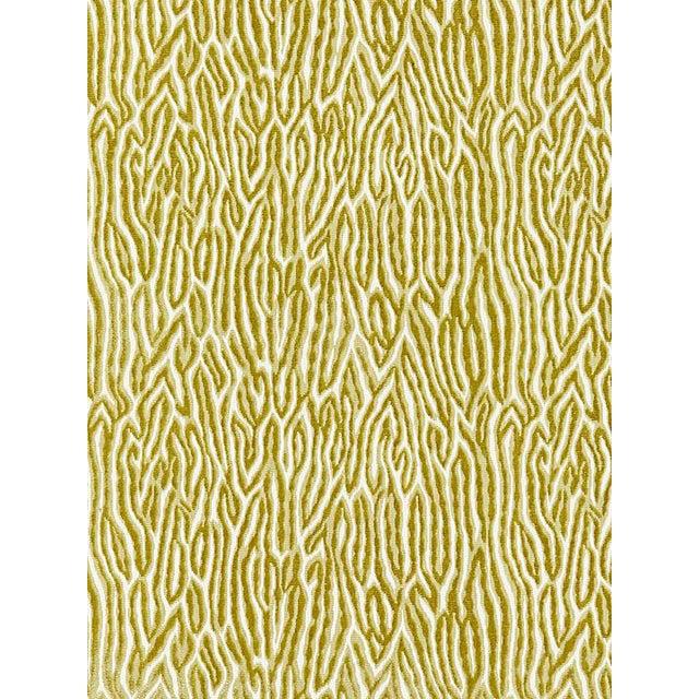 Scalamandre Faux Bois Velvet, Peridot Fabric For Sale