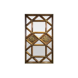 Antique Mirrored Walnut Panel For Sale
