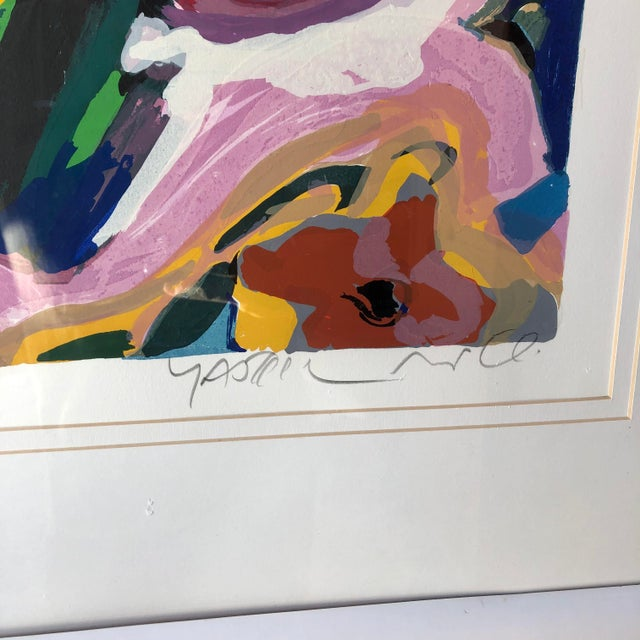 1990s Large Vintage Original Lithograph Numbered and Signed by the Artist. For Sale - Image 5 of 12