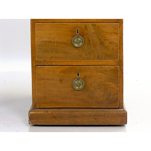 19th Century English Antique Mahogany and Leather Pedestal Desk For Sale - Image 11 of 13