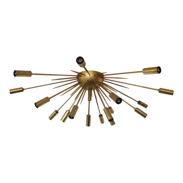 Brass Flush Mount Sputnik by Stilnovo For Sale