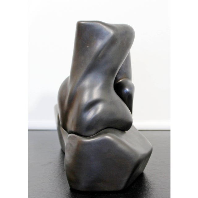 Contemporary Signed Abstract Table Sculpture F. Calderon, 1991 10/50 For Sale In Detroit - Image 6 of 9