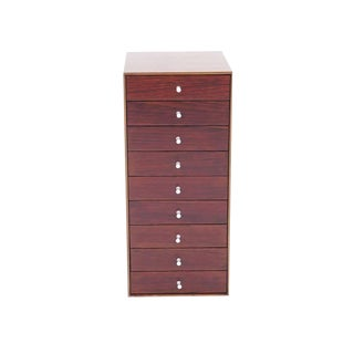 Rare Rosewood and Teak George Nelson, Thin Edge Nine-Drawer Jewelry Chest, 1954 For Sale