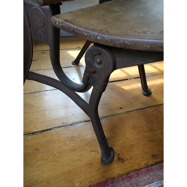 Vintage School Desk & Bench Chair For Sale - Image 4 of 7