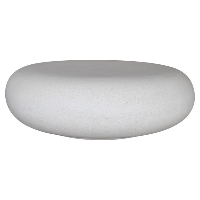 Lightweight Outdoor Cocktail Table in 'White Stone' Finish by Zachary A. Design For Sale
