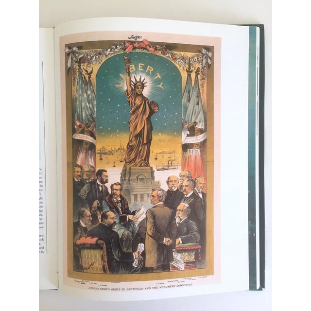 "Turquoise "" Statue of Liberty the 1st 100 Years "" Vintage 1985 Architecture Heritage Large Collector Book For Sale - Image 8 of 11"