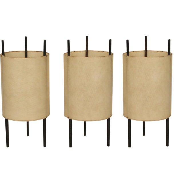"""Isamu Noguchi for Knoll """"Cylinder"""" Table Lights - Set of 3 For Sale"""