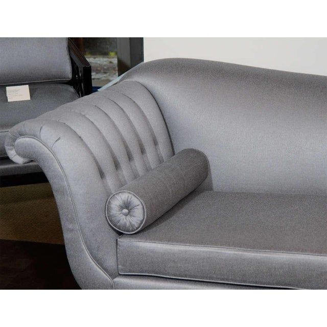 Hollywood Regency 1940s Hollywood Scrolled Sofa For Sale - Image 3 of 11