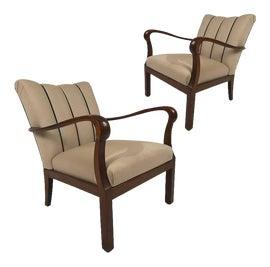 Image of Art Deco Bergere Chairs