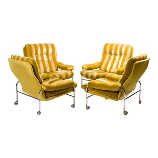 1960s Set of Four Bruno Mathsson Karin Armchairs For Sale