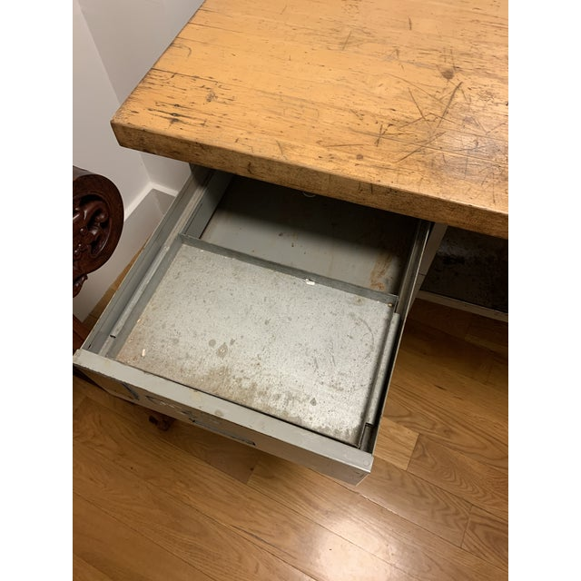 Industrial Lyon Aurora Ill Workbench For Sale - Image 9 of 10
