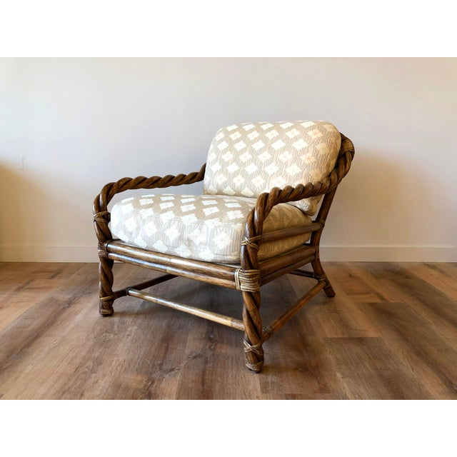 Vintage McGuire Braided Rattan Chair For Sale - Image 13 of 13