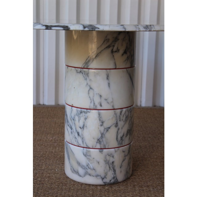 Metal Vintage 1970s Post-Modern Italian Marble Dining Table For Sale - Image 7 of 12