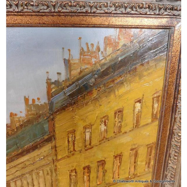 Paris Street Scene Impressionist Oil Painting For Sale - Image 7 of 11