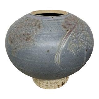 Vintage Studio Handmade Pottery Vase For Sale