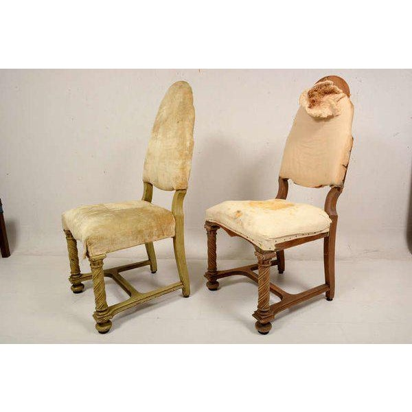 Pair of Antique Hand-Carved Chairs - Image 2 of 8
