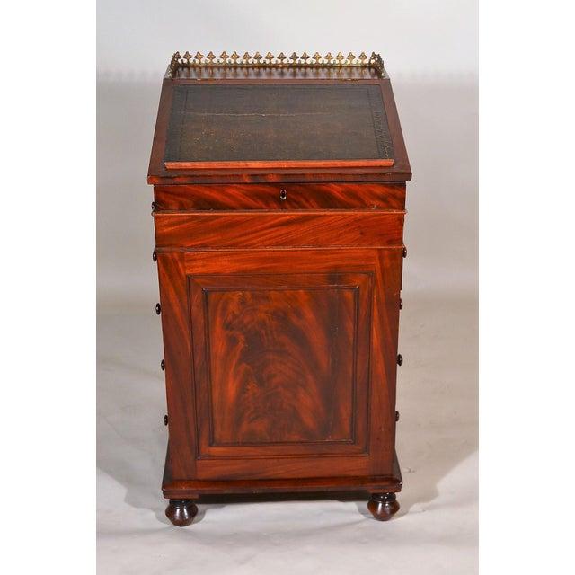 Wood Antique English Mahogany Davenport For Sale - Image 7 of 7