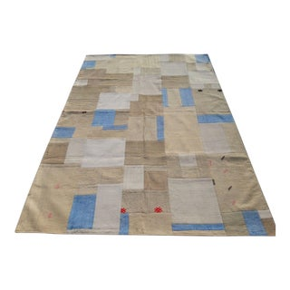 """Turkish Patchwork Overdyed Rug -- 5'1"""" x 7'8"""" For Sale"""