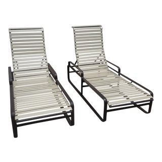 1970s Tropitone Brasilia Chaise Lounges - A Pair